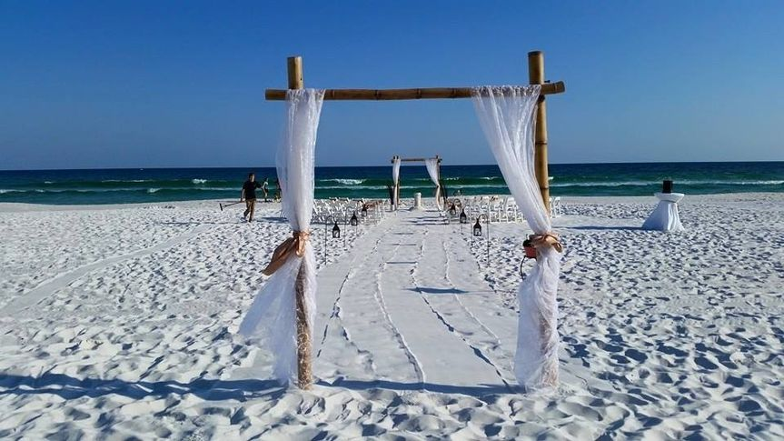 Destin Beach wedding arbor